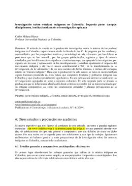 6. Otros estudios y producción no académica