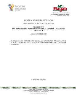 informe al 30 de junio - Unidad de Acceso a la Información Pública