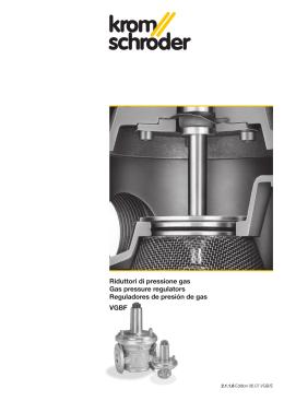 VGBF Riduttori di pressione gas Gas pressure regulators