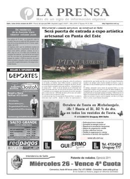 La Prensa Portada jueves 16 de junio 2011