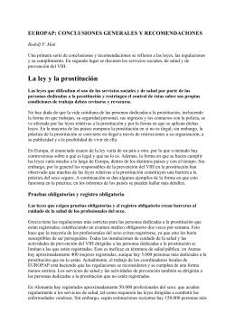 EUROPAP: ALGEMENE CONCLUSIES EN AANBEVELINGEN