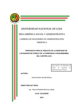 UNIVERSIDAD NACIONAL DE LOJA - Repositorio Universidad