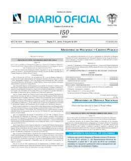 diario oficial - Imprenta Nacional de Colombia