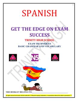 Spanish. - Trinity High School