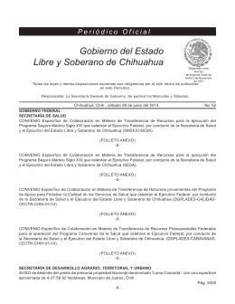 Sábado 28 de junio del 2014 - Gobierno del Estado de Chihuahua
