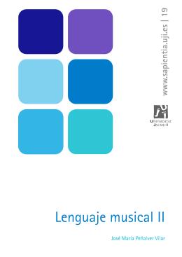 Lenguaje musical II - Universitat Jaume I de Castelló