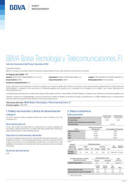 BBVA Bolsa Tecnología y Telecomunicaciones, FI