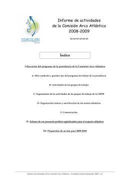 Informe de actividades de la Comisión Arco