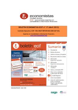 BOLETÍN ECONOMISTAS-ECIF nº 17 (Abril 2012)
