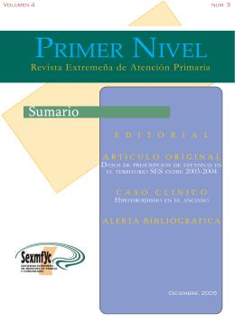 PRIMER NIVEL - Sociedad Extremeña de Medicina de Familia y