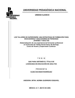 Los talleres de supervisión - Biblioteca Gregorio Torres Quintero