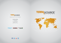 folleto corporativo - TerraSource Global