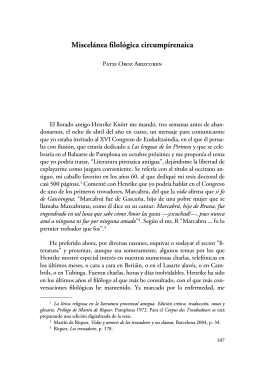 Miscelánea filológica circumpirenaica