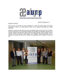 Boletín ADUGREP - Abril 2010