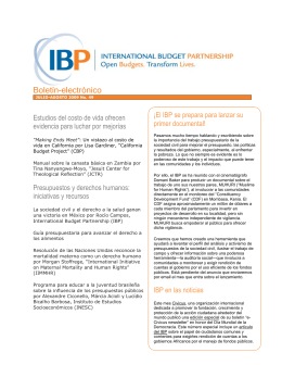 PDF of full newsletter - International Budget Partnership