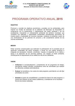PROGRAMA OPERATIVO ANUAL 2015