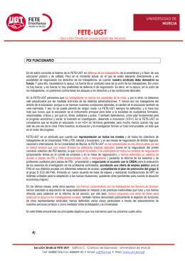 PDI funcionario - Universidad de Murcia