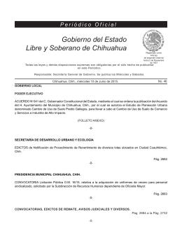 Miércoles 10 de junio de 2015 - Gobierno del Estado de Chihuahua