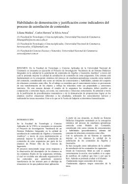 Habilidades de demostración y justificación como indicadores del