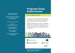 Programa Polos Audiovisuales