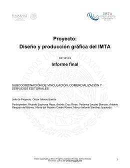 Proyecto: Diseño y producción gráfica del IMTA