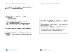 """""""La medicina en el Uruguay - BINAME / CENDIM"""