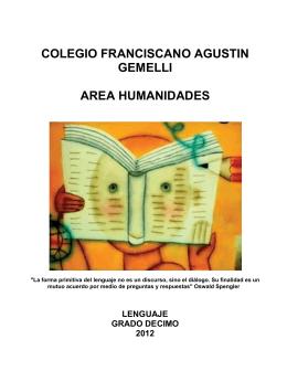 colegio franciscano agustin gemelli area humanidades