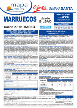 01-03-13 MARRUECOS Circuitos Semana Santa salida BIO desde
