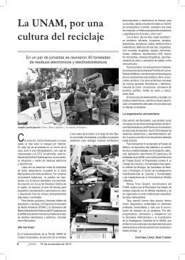 La UNAM, por una cultura del reciclaje