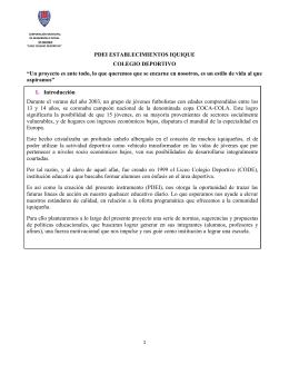 """PDEI ESTABLECIMIENTOS IQUIQUE COLEGIO DEPORTIVO """"Un"""