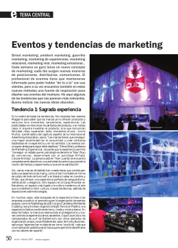 Eventos y tendencias de marketing