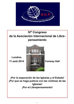IVº Congreso de la Asociación Internacional de Libre