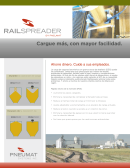Folleto del RailSpreader