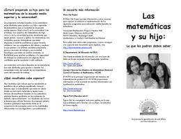 Las matemáticas y su hijo: