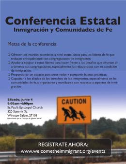 Haga clic aquí para descargar un folleto del evento (español)