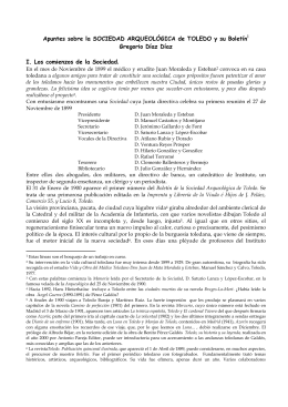 Boletín de la Sociedad Arqueológica de Toledo