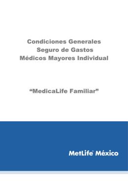 Condiciones Generales Seguro de Gastos Médicos