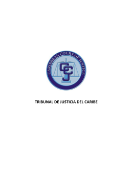 TRIBUNAL DE JUSTICIA DEL CARIBE