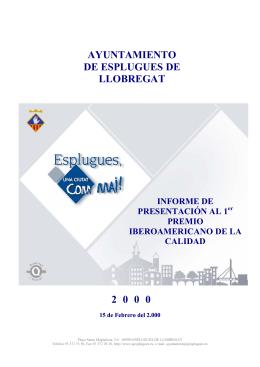 AYUNTAMIENTO DE ESPLUGUES DE LLOBREGAT 2 0