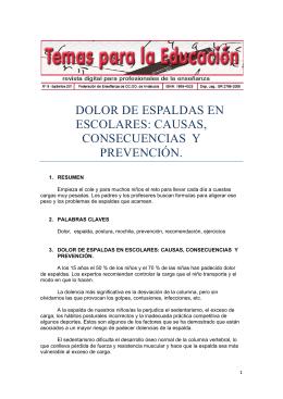 dolor de espaldas en escolares: causas, consecuencias y prevención.