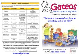 FOLLETO INFORMATIVO del curso 2015-2016