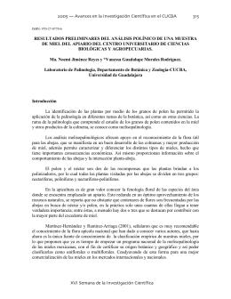 Jimenez Reyes Noemi - Centro Universitario de Ciencias Biológicas