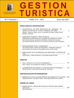 Revista Gestión Turistica