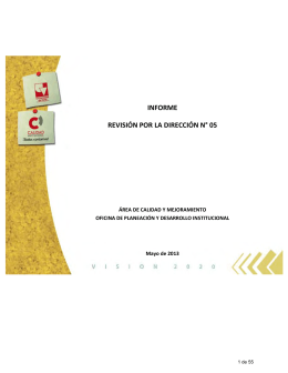 Informe Revisión por la Dirección No. 5