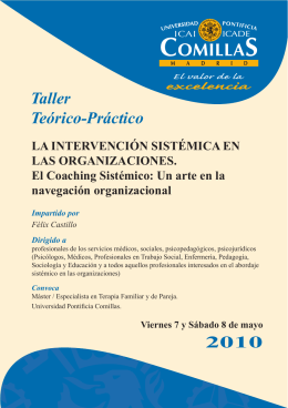 programa - Universidad Pontificia Comillas