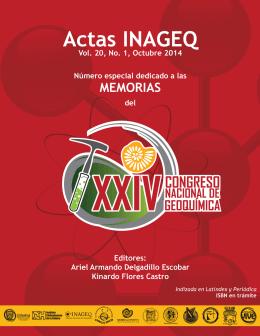 ACTAS INAGEQ, Vol. 20 - Instituto Nacional de Geoquímica