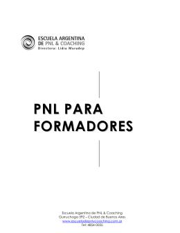 pnl para formadores - AGDS :: Comunidad de Escuelas Argentino