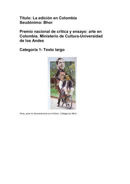 La edición en Colombia Seudónimo