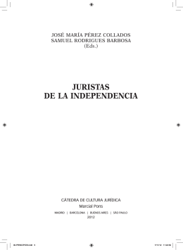 JURISTAS DE lA INDEPENDENCIA