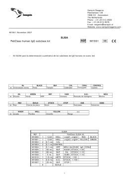 ELISA PeliClass human IgG subclass kit REF M1551